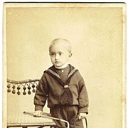 Wilhelm Georg Saxe Altenburg CDV. Hair to the Throne as Baby Boy. 1905