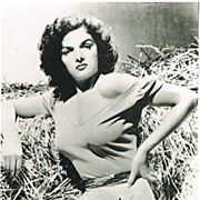 SOLD Jane Russell Autograph on Vintage Photo Print. CoA