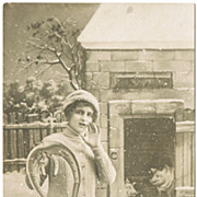 Happy New Year. Vintage Postcard from app. 1910