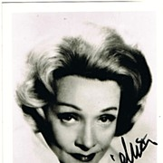 SOLD Marlene Dietrich Autograph. 4 x 6. CoA