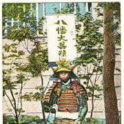 Japanese Warrior: German Advertising Postcard for Dogs Diseases