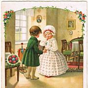 Pauli Ebner Postcard: Long desired Moment 1929