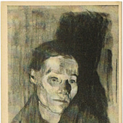 SOLD Kaethe Kollwitz Artist Postcard Home Worker 1925