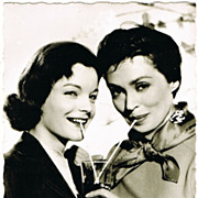 Romy Schneider and Lilli Palmer, vintage Photo