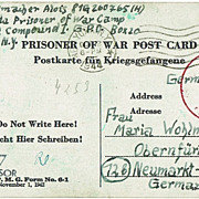 WWII: Two Prisoner of War Postcards New York to Germany 1944-45