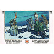 Alfred Offner Postcard with Red Cross Motif World War 1