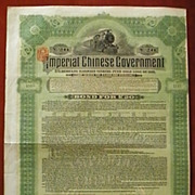 Imperial Chinese Government Hukuang Railways Gold Bond