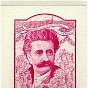 Johann Strauss Essay: Never issued trial print for an Austrian stamp