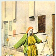 SOLD Old China: Beggar Woman selling Babies