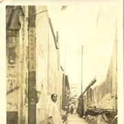 App 1920: Two old photo postcards from China