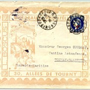 France 1941: Better Ship Post with overprinted stamp