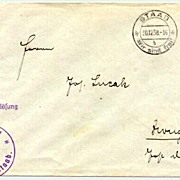 """1938: Germany """" Staab – Wir sind frei"""" cancellation on cover"""