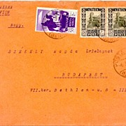 1937: Libya / Italy: Scott, Cyrenaica C6 with overprint LIBIA on Cover