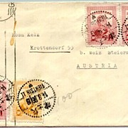 1947: Chinese Letter sent Tianjin to Austria