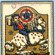 Old Germany: Artist signed Beer Postcard