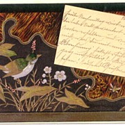 1901: Very attractive Japanese style German Litho Post Card