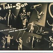 Vintage photo of old Chinese Artist Group: Lo Toki-San