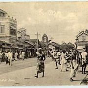 Old Ceylon Postcard: Petah of Native Town