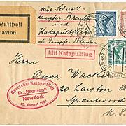 1929:  Catapultflight German American Seapost