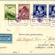 1936:  Wien – Budapest: Mothers Day Flight Postal Cover