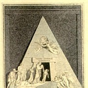 19th Century: Fine Steel Print: Grave of Arch Duchesse Christina.