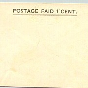 Old Shanghai / China: 1 Cent Stationery, mint