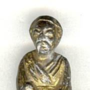 Ca. 1900: China Qing Dynasty Figurine, gilded