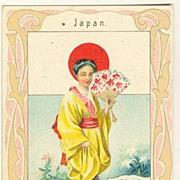 Japan / Austria: Art Nouveau Chocolate Trading card