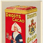 Old Droste Cacao. Poster Style Advertising Postcard.