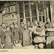 China 1920: A Village Congregation. b/w Postcard