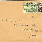 1920s: Siam / Thailand. Air Mail to Amsterdam