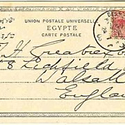 1903: China / Germany / Egypt: Ship Post to England