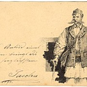 Imperial Austria: Original Drawing: Hungarian Entire with Soldier