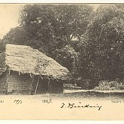 1907: Zanzibar Post Card to Austria. Native Hut