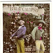 Ca. 1910: Ball of Calypso: Tinted glossy Photo from Paris