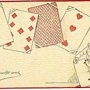 1910: New Year Postcard: Ace torn apart by Dwarf.