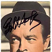 1988: Bob Hope Autograph on Photo Print. CoA