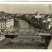W.W.II.: 1944, Synagogue in Nagyvarad, Hungary. b/w Postcard