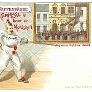 Ca. 1910: Attractive, scarce, unusual Carnival Postcard