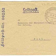 WWII: Scarce Submarine Cover. Fieldpost. Misuse