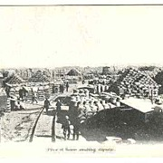 Old China: South Manchuria Railway Company Postcard: Shipping Beans in Dairen