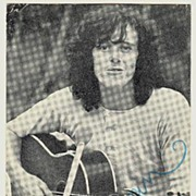 SOLD Donovan: Early Autograph of Singer Song Writer. CoA