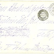 1916: Large Letter from War Ship Tegetthoff to Noble Family