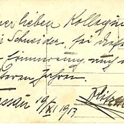 SOLD Fritz Heller Autograph. Austrian Actor 1913