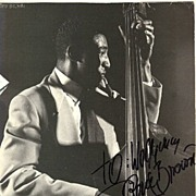 Ray Brown: Great photo with Autograph. 10.5 x 10.5 CoA