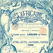 L' Africaine: Most attractive lithographed bank share