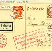 1932: Austrian First Flight Wien - Prag - Dresden - Berlin