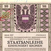 8 th Austrian War Bond: Alfred Offner Design