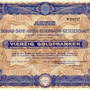 Austrian Railroad Certificate. Decorative share from 1931