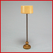 """Strombecker Dollhouse Floor Lamp with Drum Shade Mid 1940s – 1950s 3/4"""" Scale"""